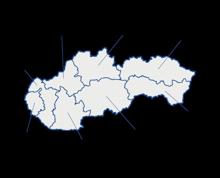 Mapa vybraných projektů montovaných hal LLENTAB