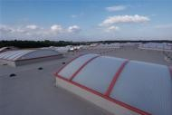 Fóliová strecha výrobnej haly s veľkým rozponom