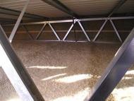 Fúkaná izolácia v priestore priehradových väzníkov montovanej haly - typ 2 (2SF)
