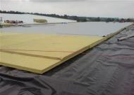 LLENTAB typ SPH - montáž fóliovej strechy haly